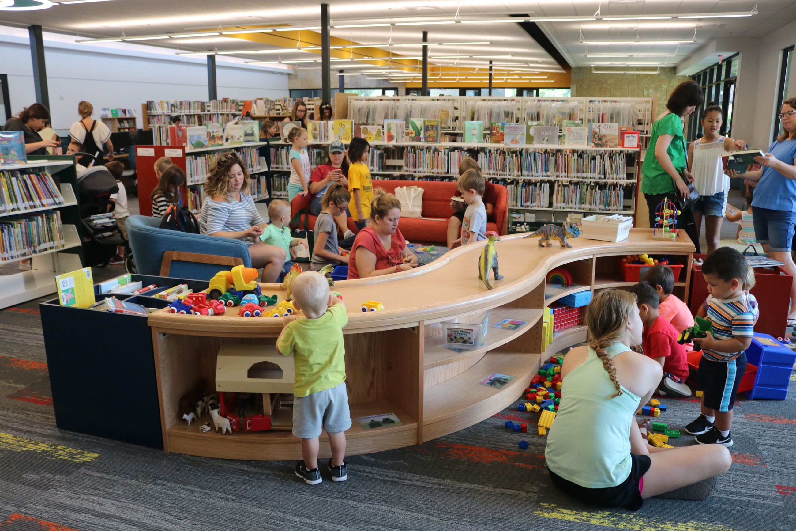 New Library Opening - Kids Playing