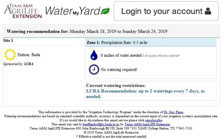 Link to water my yard dot org