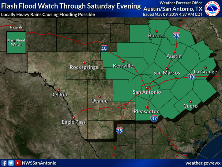 Flash Flood Watch - May 9