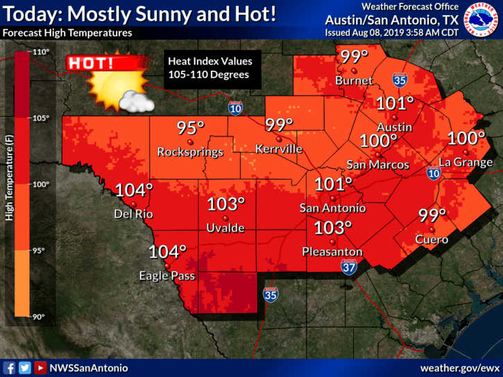 Heat Advisory - Aug. 8, 2019