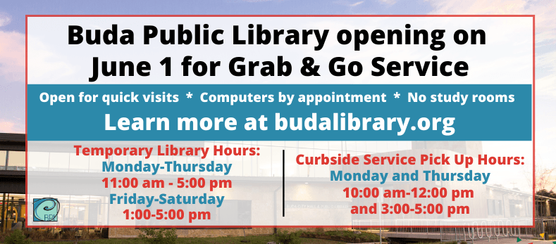 Buda Public Library Grab and Go Service
