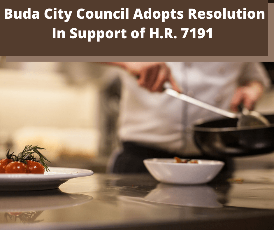 Buda City Council Adopts Resolution In Support of H.R. 7191