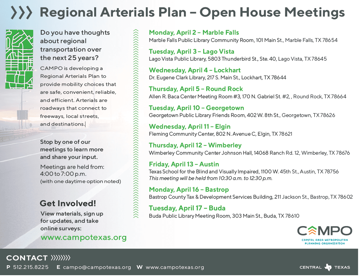 Regional Arterial Meeting