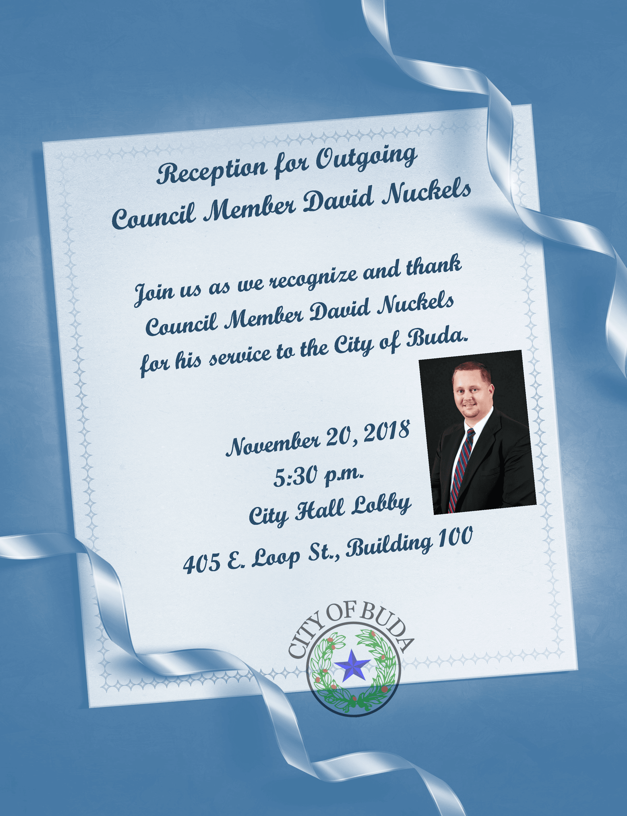 Reception for Outgoing Council Member David Nuckels 2 - Nov. 20, 2018