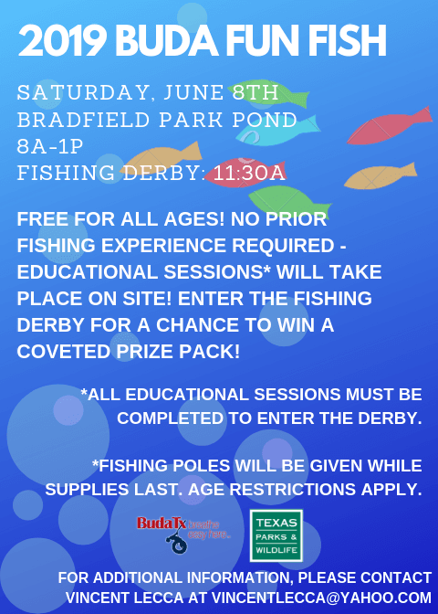 Buda Fun Fish Flyer - Saturday, June 8, 2019