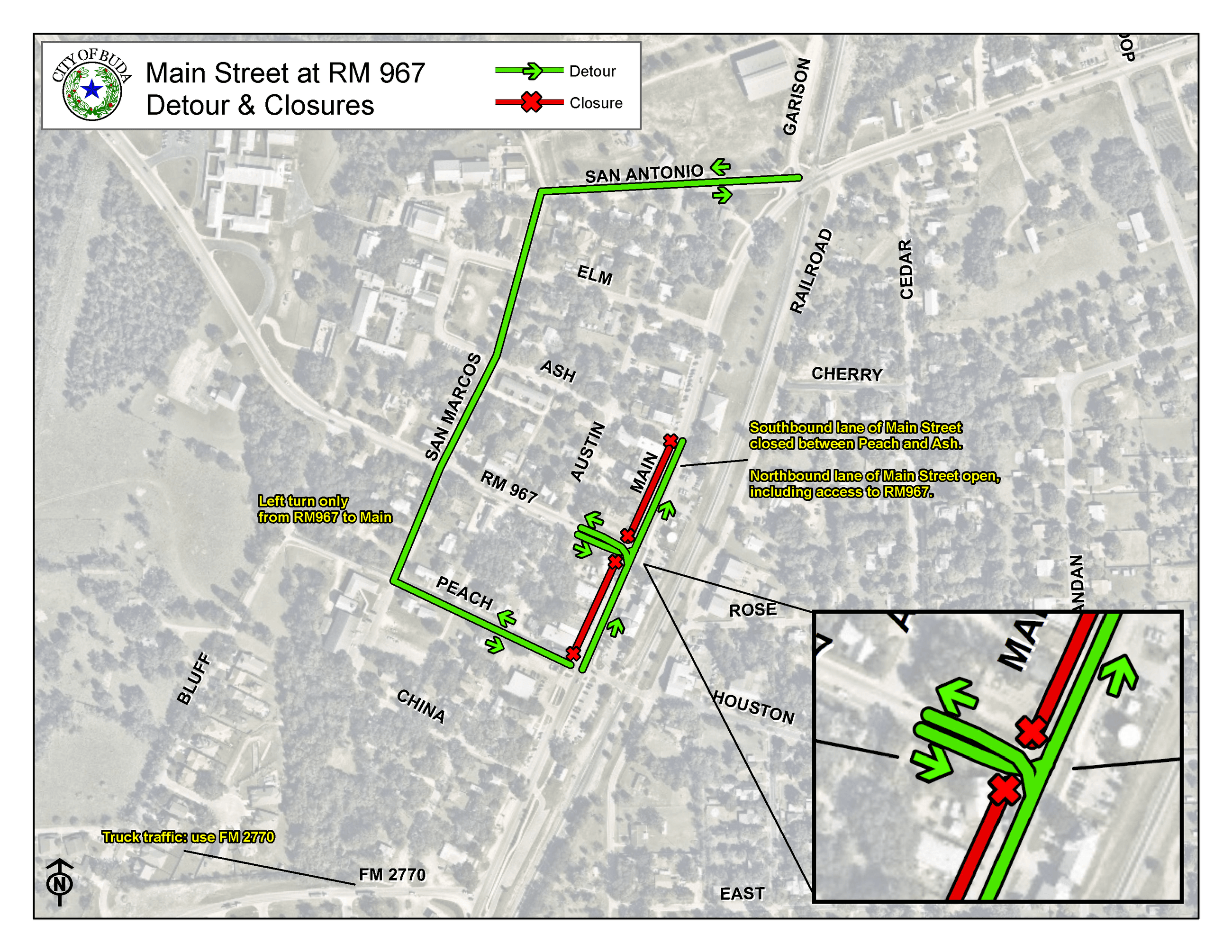 Main Street Detour January 2020