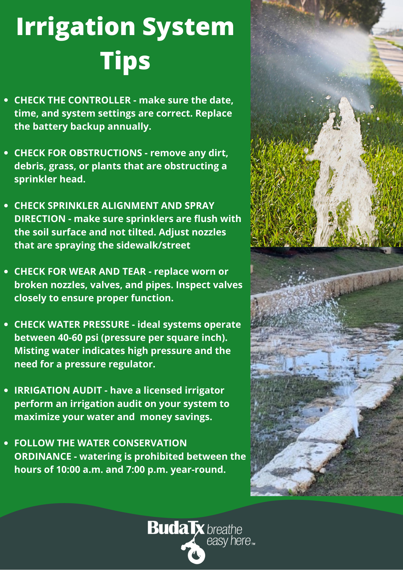 Irrigation Tips