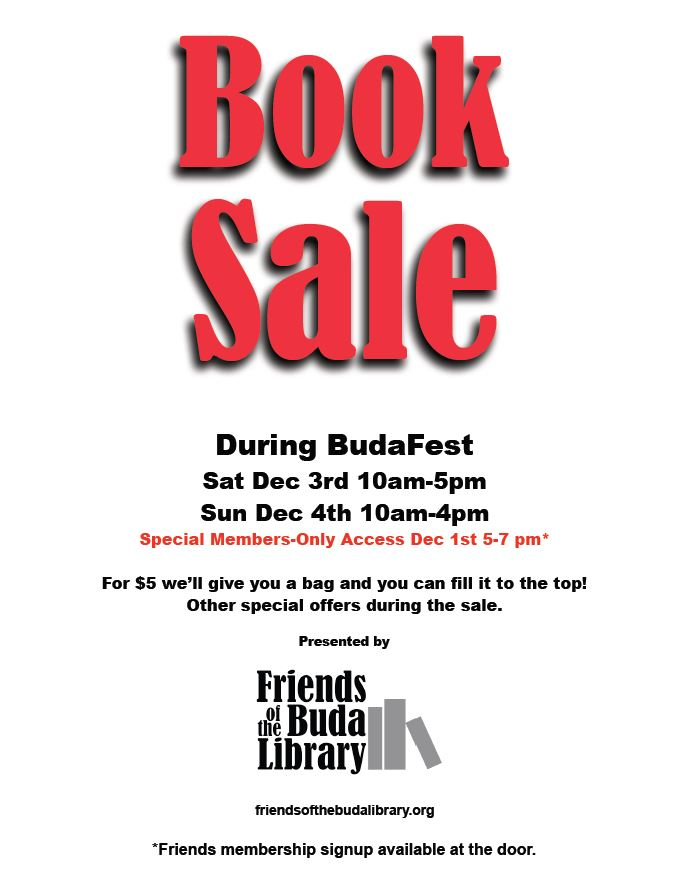 Friends of the Buda Library Flyer
